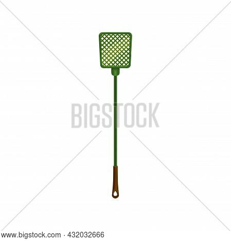 Flyswatter Icon, Insects Pest Control, Fly-swat Or Mosquito And Flies Killer Device, Vector. Plastic