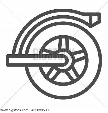 Rear Wheel Of Electric Scooter Line Icon, Electric Transport Concept, Mudguard Wheel Vector Sign On