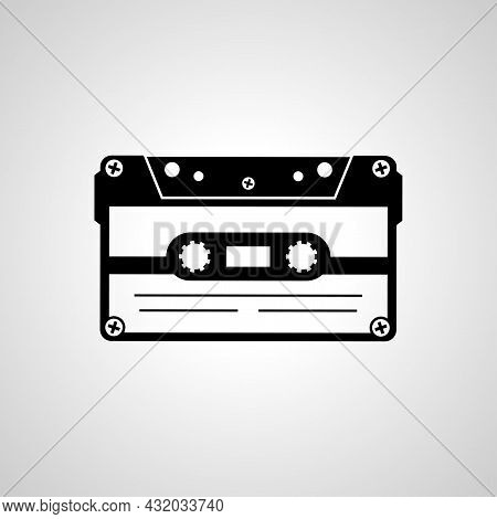 Audio Cassette Tape Vector Line Icon. Audio Cassette Tape Linear Outline Icon