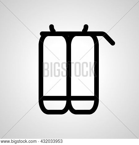 Diving Cylinders Vector Line Icon. Diving Cylinders Linear Outline Icon