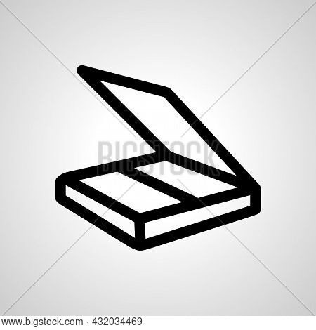 Scanner Vector Simple Icon. Scanner Isolated Vector Icon