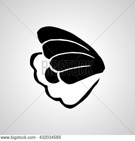 Pearl In Shell Vector Line Icon. Pearl In Shell Linear Outline Icon