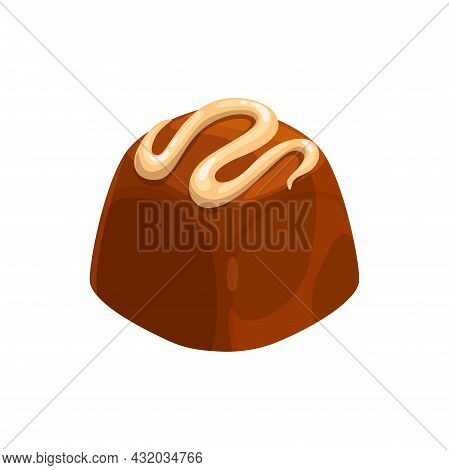 Candy Homemade Confection, Yummy Holiday Treat, Realistic Food Dessert Isolated. Vector Candy Of Coc