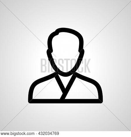 Male Avatar Profile Picture Vector Line Icon. Avatar Linear Outline Icon