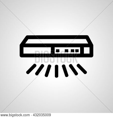 Smart Switch Vector Line Icon. Smart Switch Linear Outline Icon