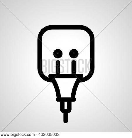 Plug Socket Vector Line Icon. Plug Socket Linear Outline Icon