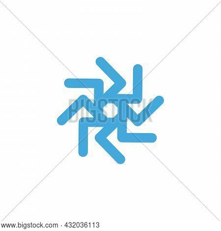Vector Graphic Geometric Flower Star Sun Or Bug Symbol. Logo Template, Corporate Symbol. Stock Vecto