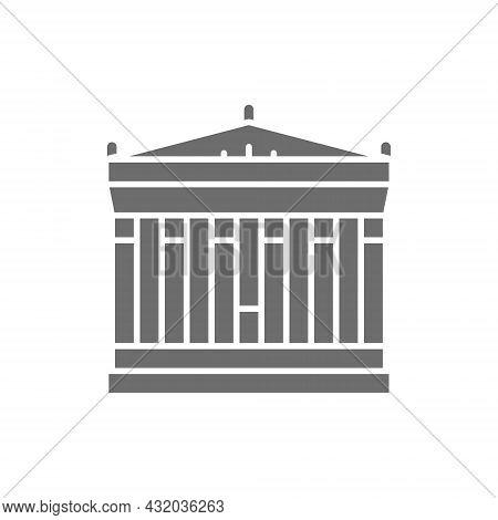Acropolis Of Athens, Greece, Landmark Grey Icon.