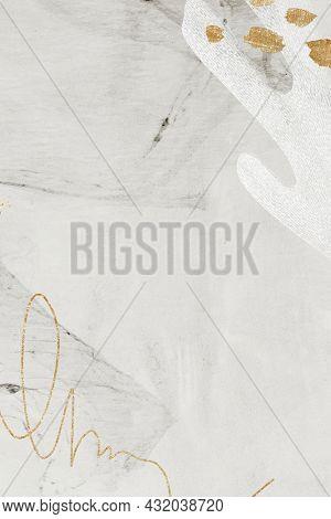 White tone Neo Memphis social background illustration