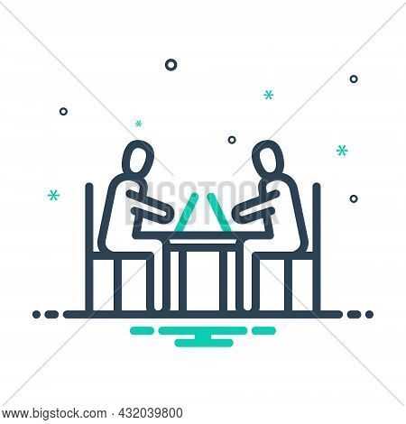 Mix Icon For Considerable Respectable Valued Serious Discussion Discuss Work Employee