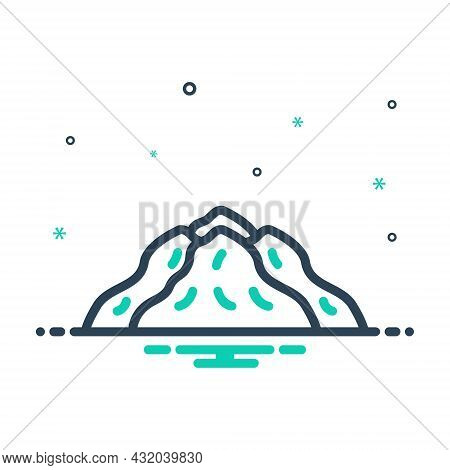 Mix Icon For Pile Heap Agglomeration Hoard Chunk Hill Mountain Material Condiment
