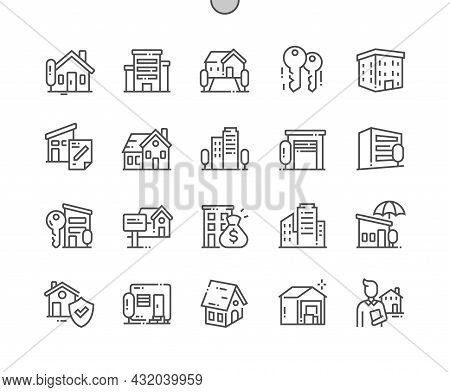 Property. Building, House, Agreement And Warehouse. Property Protection. House For Sale. Pixel Perfe