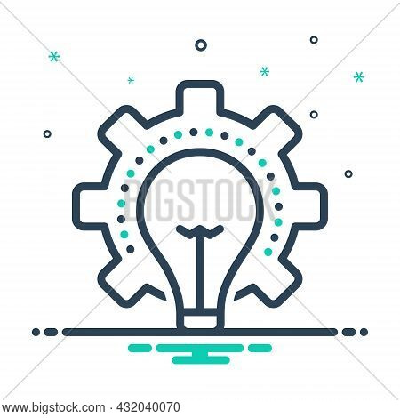 Mix Icon For Consideration Idea Opinion Thought Thinking Deliberation Mentation