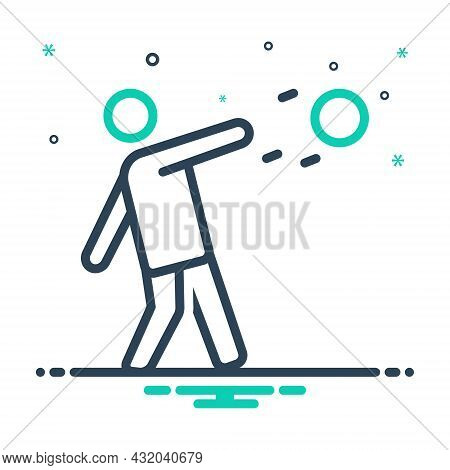 Mix Icon For Throw Player Action Jump Leisure Shot-put Discus-throw Sport Game Championship Competit