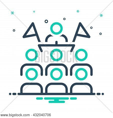 Mix Icon For Convention Orator Conference Gathering Assembly Protocol Meeting People-flock