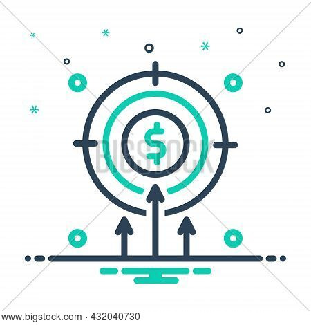 Mix Icon For Intention Motive Volition Desire Objective Target Dartboard Challenge Goal Aspirations