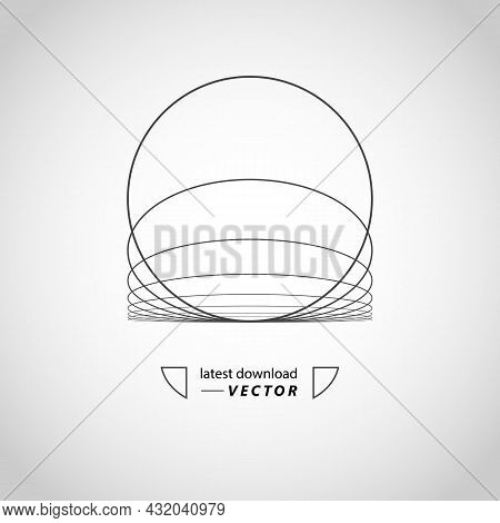Vector Wave Abstraction Background. Modern Technology Illustration With Mesh. Digital Geometric Abst