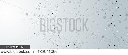 Global Molecular Medical Evolution. Abstract Technology Structure. Social Internet Biology Vector. P
