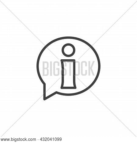 Helpdesk Info Line Icon. Linear Style Sign For Mobile Concept And Web Design. Information Speech Bub