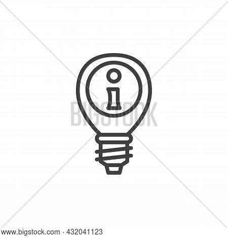Faq Lamp Line Icon. Linear Style Sign For Mobile Concept And Web Design. Faq Frequently Asked Questi