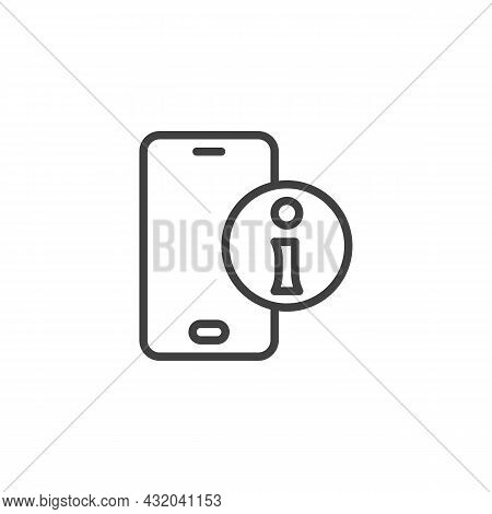 Frequently Asked Question Line Icon. Linear Style Sign For Mobile Concept And Web Design. Online Hel