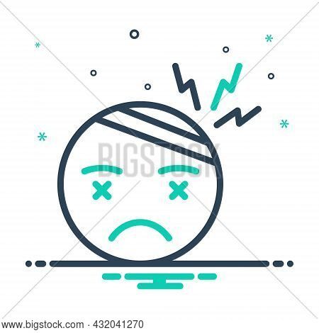 Mix Icon For Stress Tension Brain Frustrated Strain Anxiety Headache Person Tension Depression