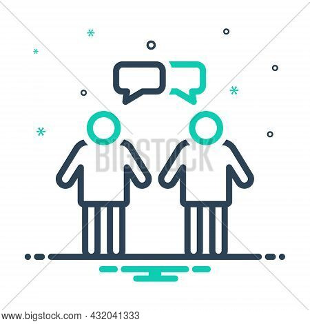 Mix Icon For Interaction Interplay Contact Reciprocation Communication Conversations Discussion