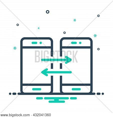 Mix Icon For Share Contribution Connection Smartphone App Copy Share File Document Folder Transfer