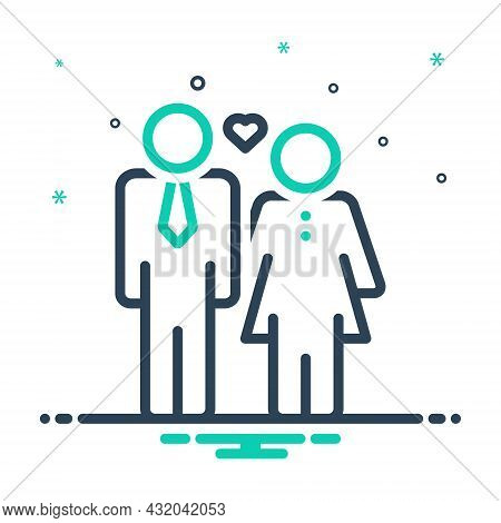 Mix Icon For Husband Spouse Man Partner Yokefellow Hubby Married-man Couple Woman