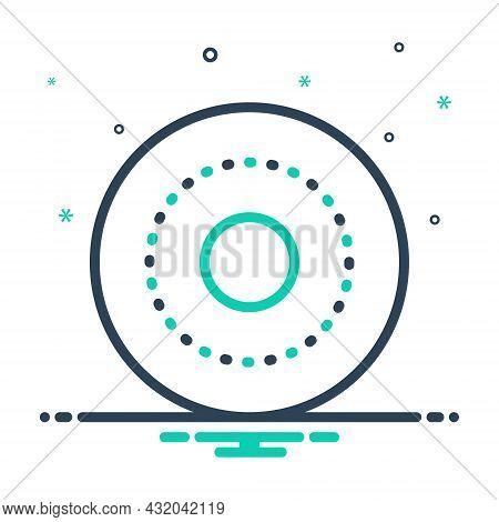 Mix Icon For Circle Cycle Wheel Gyre Disc Disk Ellipse Round Circular