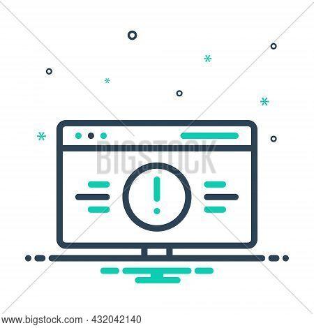 Mix Icon For Error Defect Lapse Caution Bluescreen Monitor Crash Software Damage Desktop Gadget