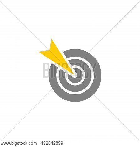 Target Aim, Successful Shoot Glyph Style Vector Icon