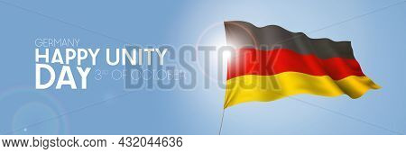 Germany Happy Unity Day Greeting Card, Banner With Template Text Vector Illustration