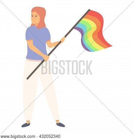Discrimination Homophobia Icon Cartoon Vector. Homosexual Day. Rainbow Flag