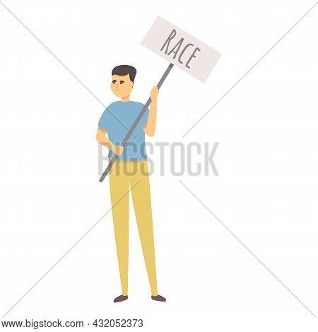 Race Discrimination Icon Cartoon Vector. People Unity. Social Protection