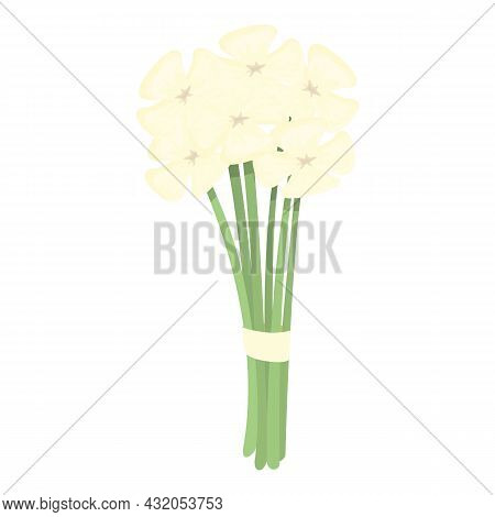 Garden Bouquet Icon Cartoon Vector. Spring Flower. Floral Bunch