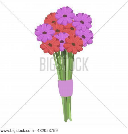 Botanical Flower Bunch Icon Cartoon Vector. Floral Blossom. Garden Bouquet