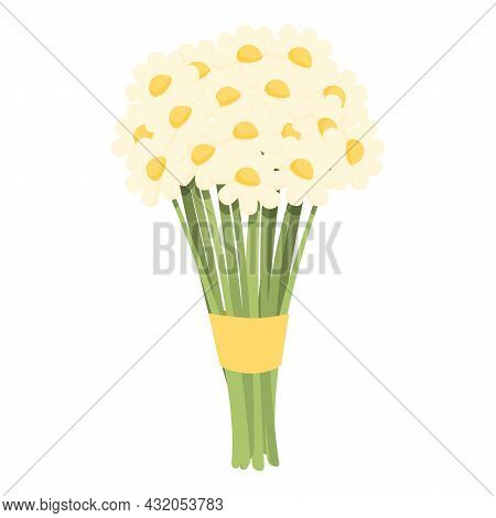 Nature Bouquet Icon Cartoon Vector. Gift Flower. Floral Bunch