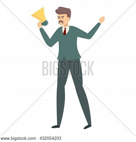 Angry Worker Icon Cartoon Vector. Mad Businessman. Office Conflict