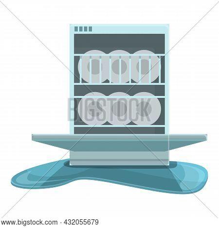 Fixing Appliance Icon Cartoon Vector. Repair Machine. Home Dishwasher