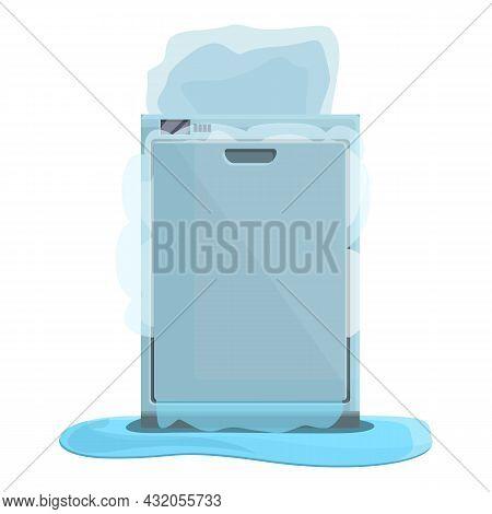 Maintenance Dishwasher Icon Cartoon Vector. Repair Household. Kitchen Appliance