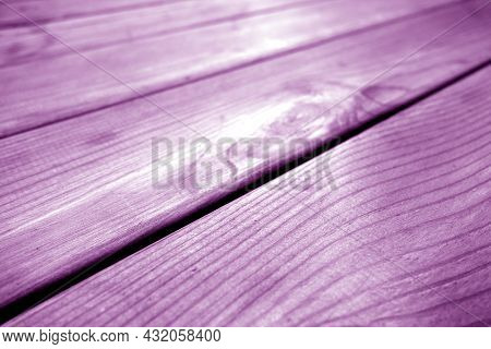Wooden Pine Board Surface In Purple Tone. Background And Texture For Design And Ideas.