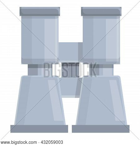 Binoculars Icon Cartoon Vector. Discovery Vision. Search View