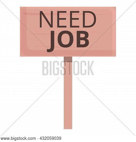 Need Job Banner Icon Cartoon Vector. Seeking Employment. Career Candidate