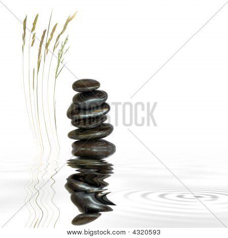 Wellness Stones en natuurlijk gras