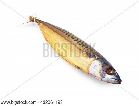 Smoked Fish Without The Head Isolated On White Background