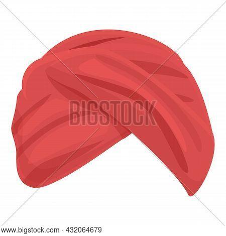 Arab Culture Turban Icon Cartoon Vector. Indian Hat. Pagdi Headdress