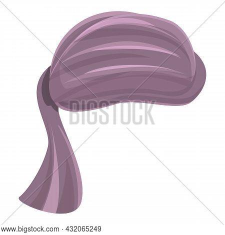 Chemo Turban Icon Cartoon Vector. Arab Hat. Culture Turban