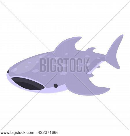 Whale Shark Animal Icon Cartoon Vector. Sea Fish. Ocean Species