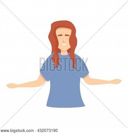 Concentration Icon Cartoon Vector. Stress Work. Zen Mind